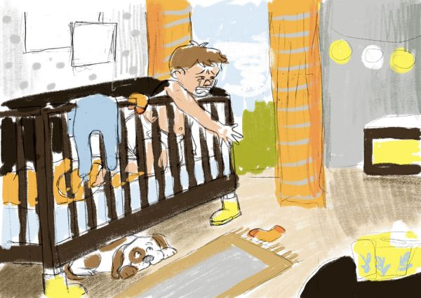 nursery color test sketch laura perlitz papierzucker