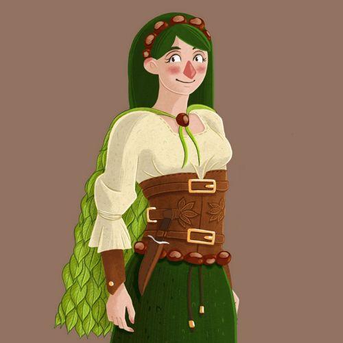 Chestnut - close-up - illustration project - character design - concept art - Laura Perlitz
