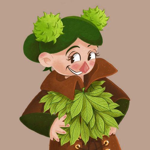 Chestnutling - close-up - illustration project - character design - concept art - Laura Perlitz